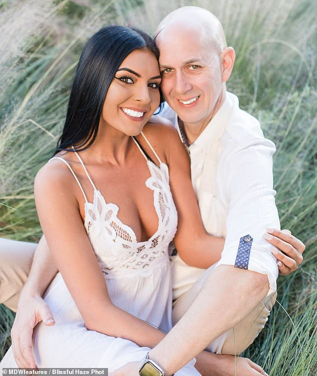 Instant connection: Sarai Serface, 27, met her now-husband Joel, 50, on dating app Bumble and the couple says it was love at first sight
