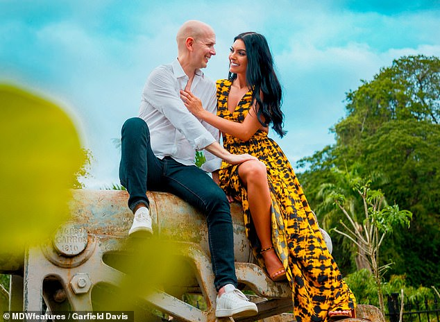"""Upset: 'I have got messages on Instagram calling our relationship """"predatory"""". I have had a lot of comments calling me a sugar baby,' Sarai shared"""